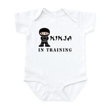 Brown Eyes Ninja In Training Infant Bodysuit