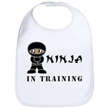 Dark Brown Eyes/Skin Ninja In Training Bib