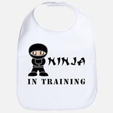 Brown Eyes Ninja In Training Bib