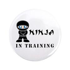"Blue Eyes Ninja In Training 3.5"" Button"
