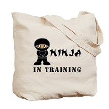Dark Brown Eyes/Skin Ninja In Training Tote Bag