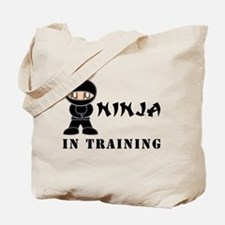 Brown Eyes Ninja In Training Tote Bag