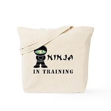 Green Eyes Ninja In Training Tote Bag