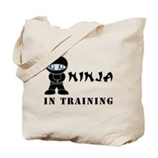 Blue Eyes Ninja In Training Tote Bag