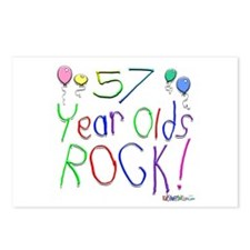 57 Year Olds Rock ! Postcards (Package of 8)