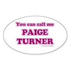 Paige Turner Oval Decal
