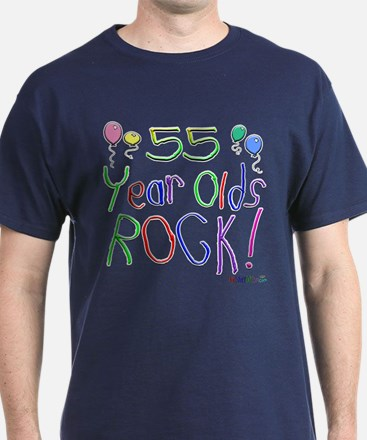 55 Year Olds Rock ! T-Shirt