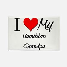 I Love My Namibian Grandpa Rectangle Magnet