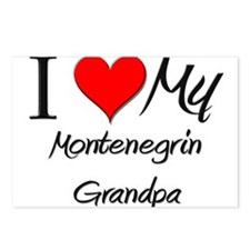 I Love My Montenegrin Grandpa Postcards (Package o