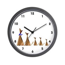 Coyote Family Wall Clock