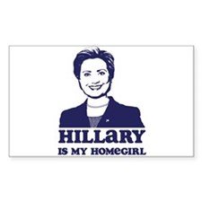 Hillary is My Homegirl Rectangle Decal