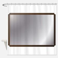 Wall Mirror Shower Curtain