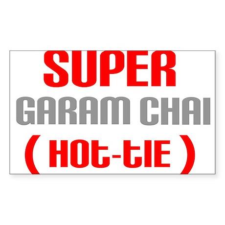 Super Garam Chai Hottie Rectangle Sticker
