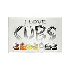 I Love Cubs Rectangle Magnet