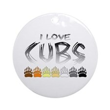 I Love Cubs Ornament (Round)