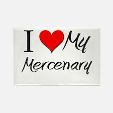 I Heart My Mercenary Rectangle Magnet