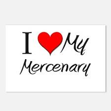 I Heart My Mercenary Postcards (Package of 8)