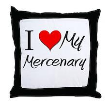 I Heart My Mercenary Throw Pillow