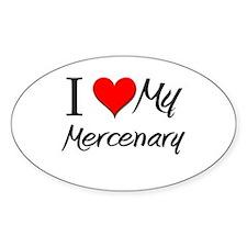 I Heart My Mercenary Oval Decal