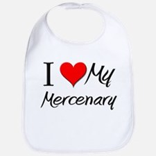 I Heart My Mercenary Bib