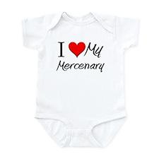 I Heart My Mercenary Infant Bodysuit