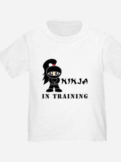 Girl Ninja In Training T