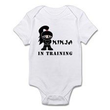 Girl Ninja In Training Infant Bodysuit