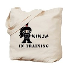 Girl Ninja In Training Tote Bag