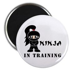 Girl Ninja In Training Magnet