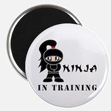 Girl Ninja In Training Magnet