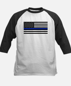 Thin Blue Line American Flag Baseball Jersey