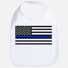 Thin Blue Line American Flag Baby Bib