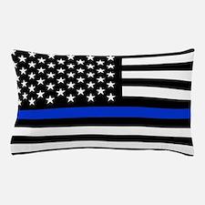 Thin Blue Line American Flag Pillow Case