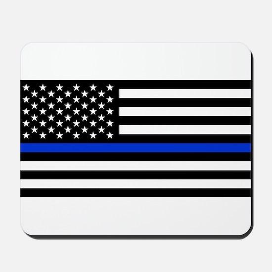 Thin Blue Line American Flag Mousepad