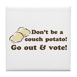 Go Out and Vote Tile Drink Coaster