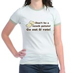 Go Out and Vote Jr. Ringer T-Shirt