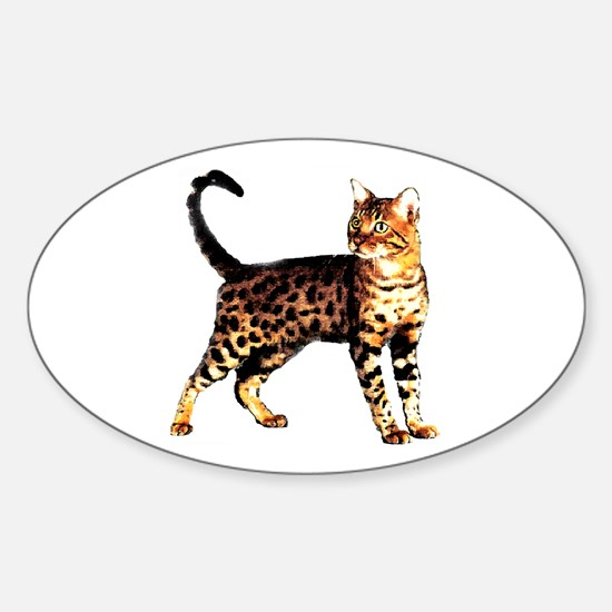 Bengal Cat: Raja Oval Decal