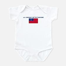 50 PERCENT SAMOAN IS BETTER T Infant Bodysuit
