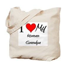 I Love My Korean Grandpa Tote Bag