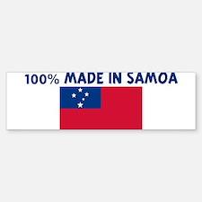 100 PERCENT MADE IN SAMOA Bumper Bumper Bumper Sticker