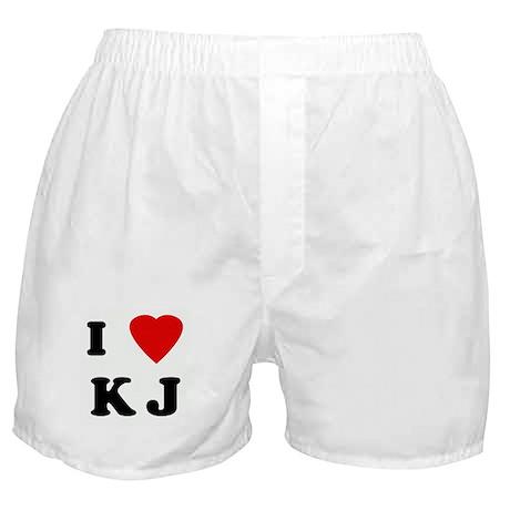 I Love K J Boxer Shorts