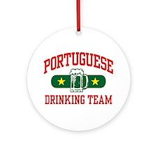 Portuguese Drinking Team Ornament (Round)