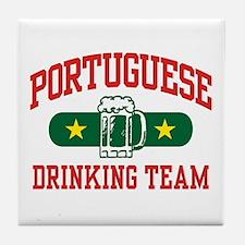 Portuguese Drinking Team Tile Coaster