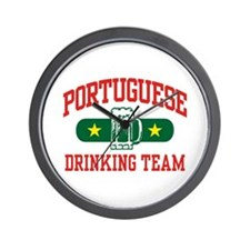 Portuguese Drinking Team Wall Clock