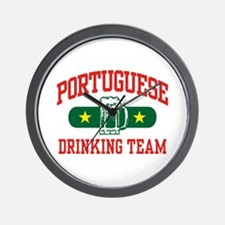 Portuguese Drinking Team Wall Clock