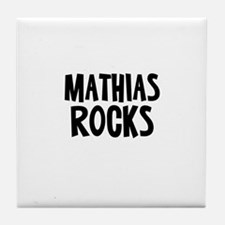 Mathias Rocks Tile Coaster