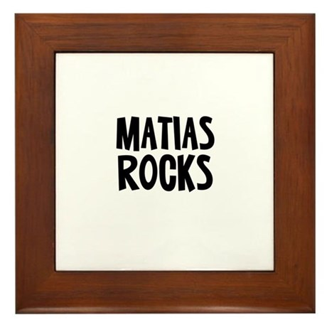 Matias Rocks Framed Tile