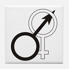 Joined Male & Female Symbol Tile Coaster