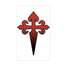 Dagger and Cross Rectangle Decal