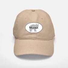 Manx Oval Baseball Baseball Cap
